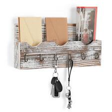 Key Holder Mail Rack Wall Mount Hooks Entryway Organizer Rack Letter Technology