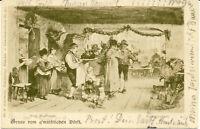 AK München, Bauernhochzeit, gel. am 14.2.1904 nach Starnberg