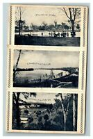 Vintage View of Calhoun Park and Connecticut River c1906 Postcard L20