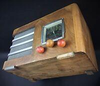 RADIO POSTE TSF CHASSIS en bois année 50 - à détourner (expl enceinte connectée)
