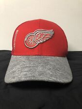 Detroit Redwings Official Nhl Hat Red And Grey Mesh Adjustable Adidas