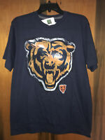 NWT NFL Team Apparel Chicago Bears T-Shirt. Blue & Sz large. Cool Design!