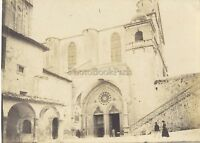 Seduta Assisi Egliseitalie Italia Foto Amateur Vintage Analogica Mat Ca 1900