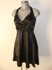 Neckholder Kleid in Schwarz Satin Gr.S Marke Maqaadi Deluxe