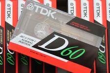 TDK D 60 NORMAL POSITION TYPE I BLANK AUDIO CASSETTE - JAPAN 1990