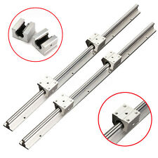 12MM Fully SBR12-600mm Rails Supported Linear Bearing Shaft Rod +2 SBR12UU Block