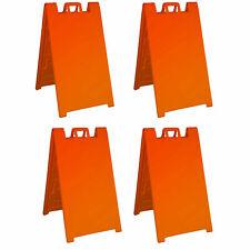 Plasticade Signicade A Frame Portable Folding Sidewalk Sign Orange 4 Pack