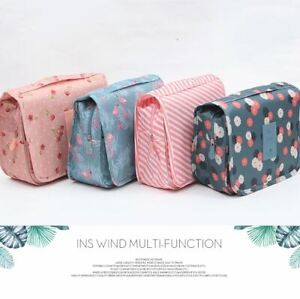 Travel Cosmetic Makeup Bag Toiletry Hanging Zip Organizer Storage Case Pouch
