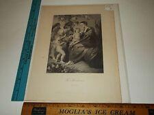 Rare Antique 1882 The Madonna Modena Engraving Art Print A.H Payne Dresden