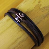 Damenarmband Surferarmband Herrenarmband Lederarmband Armband Wickelarmband Goa