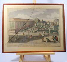 altkolorierter Kupferstich Guckkastenbild 1770 Schloß Palatium Breslau Schlesien