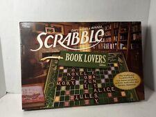 SCRABBLE BOOK LOVERS Edition Family Crossword Board Game 2011 Hasbro - Complete
