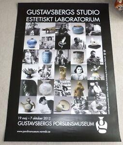 Gustavsberg Studio Pottery 2012 SWEDISH ART EXHIBITION POSTER Stig Lindberg etc