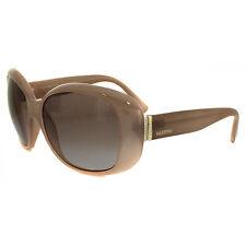 Occhiali da sole da donna con montatura in beige con tecnologia lenti gradiente con lenti in marrone
