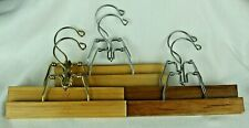 vintage coathangers wood Lot of 6 Setwell & Made in Taiwan Pants Wooden