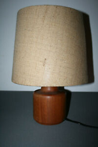 TISCHLAMPE TISCHLEUCHTE Teak Danish Design 60s 60er Table Lamp 70er 70s Vintage