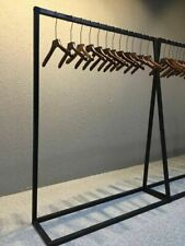 Industrial Steel Finish Garment Rack Clothing Retail Shop Commercial HomeDisplay