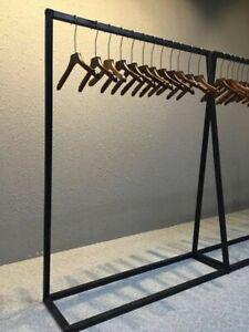 Industrial Steel Finish Garment Rack Clothing Retail Shop Commercial HomeDisplay