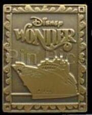 Disney Pin: DCL Disney Cruise Line - Disney Wonder (Golden Stamp-Like)
