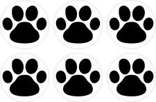 Set 6x sticker decal vinyl car bike laptop macbook bumber animal paw dog cat