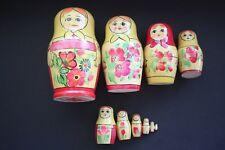 11 Vintage 80's Ussr Wooden Hand Painted Nesting Stacking Matryoshkas Lg Set