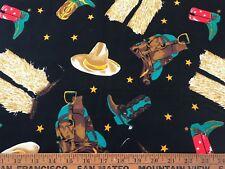 Cotton Quilt Fabric Cowboy Shamash Sons BTHY
