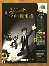 Blues Brothers N64 Nintendo 64 2000 Vintage Print Ad/Poster Official Authentic