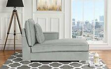 Modern Loft Chair Living Room Lounger Velvet Chaise Lounge (Light Grey)