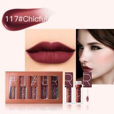 5 Color Matte Liquid Lipstick Set  Brown Chocolate Rose Lipstick Kit