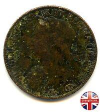 A 1897 British Bronze VICTORIA FARTHING Coin                    (Ref:1897_600/1)