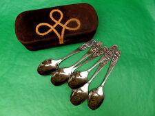 USSR, Soviet Latvia 1970s JURMALA Tea Spoons Set of 6, In Leather Case