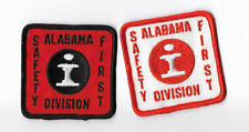 2 ILLINOIS  CENTRAL RR ALABAMA  Division Safety First PATCHES