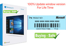 Window10 Home License Product Genuine Code 32/64 Bit(5 Second Worldwide Delivery