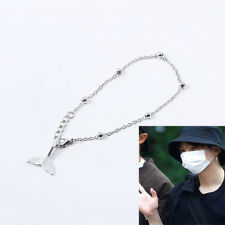 Kpop SUGA Silver Dolphin Tail Bracelet Y2327