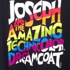 L black T Shirt COLORFUL Joseph & the Amazing TECHNICOLOR dreamcoat PLAY school