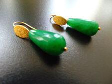 Smaragd Mode-Ohrschmuck mit Tropfen-Schliffform