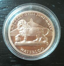 médaille penning FDC Waterloo 1815-2015