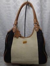 4a367acbf04c Relic Woben Tan Black Ivory Trim Faux Leather Shoulder Bag Pre-owned