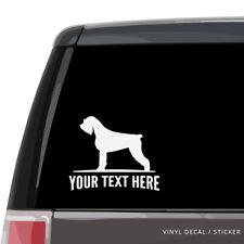 Schnauzer Car Window Decal, Personalized Vinyl Sticker laptop wall mini standard