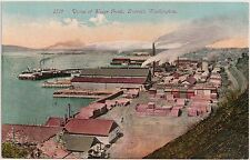 View of Water Front in Everett WA Postcard