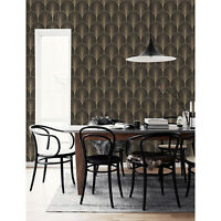 Vintage antique palette art deco Non-woven wallpaper black and yellow wall mural