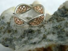 Clogau Silver & 9ct Rose Welsh Gold Welsh Royalty Ring RRP £219.00 size P