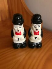 Vintage CHARLIE CHAPLIN Salt Pepper Shakers Handpainted Collectable Figurines