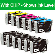 12 Pack Remanufactured 126 Ink Cartridges For Epson WorkForce WF-3520 WF-3530