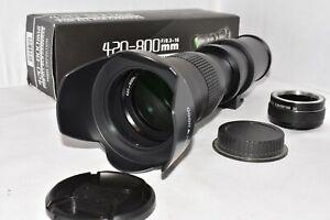 Canon EOS DIGITAL fit 420 800mm 1600mm zoom lens 1200D 1300D 1000D 2000D 4000D +