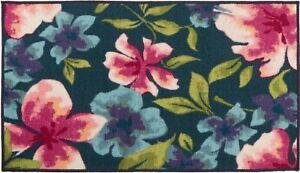 "Extra Long Egyptian Nylon Kitchen Rug (nonskid back) (26"" x 45"") FLOWERS, OW"