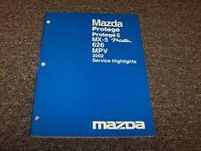 2002 Mazda MX5 Miata Convertible Service Highlights Shop Repair Manual LS SE