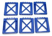Lego Lot of 6 New Blue Supports 1 x 6 x 5 Girder Rectangular Building Pieces