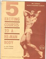 Ben Weider Mr Canada Muscle Building Courses 5 Exciting Courses To A He-Man Body