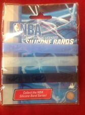 NBA Official PLAYERS Baller BANDS Blue Clear Black VINTAGE WRIST ID 2005 3 Pk